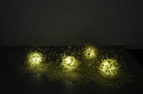 Bubble in Light Resin, wire, light 2009