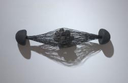"Propulsion 5""x20"" Wood, wire, flax, abaca 2003"