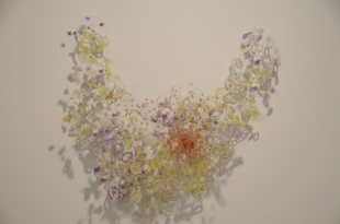 """Ring 32"""" x 45"""" x 11"""" Resin, wire 2011"""