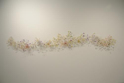 "Season of Change 18"" x 96"" x 12"" Resin, wire 2011"