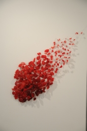 """Dispersion 60"""" x 55"""" x 12"""" Resin, wire 2011"""