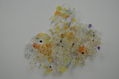 """Coming 26"""" x 29"""" 7"""" Resin, wire 2011"""